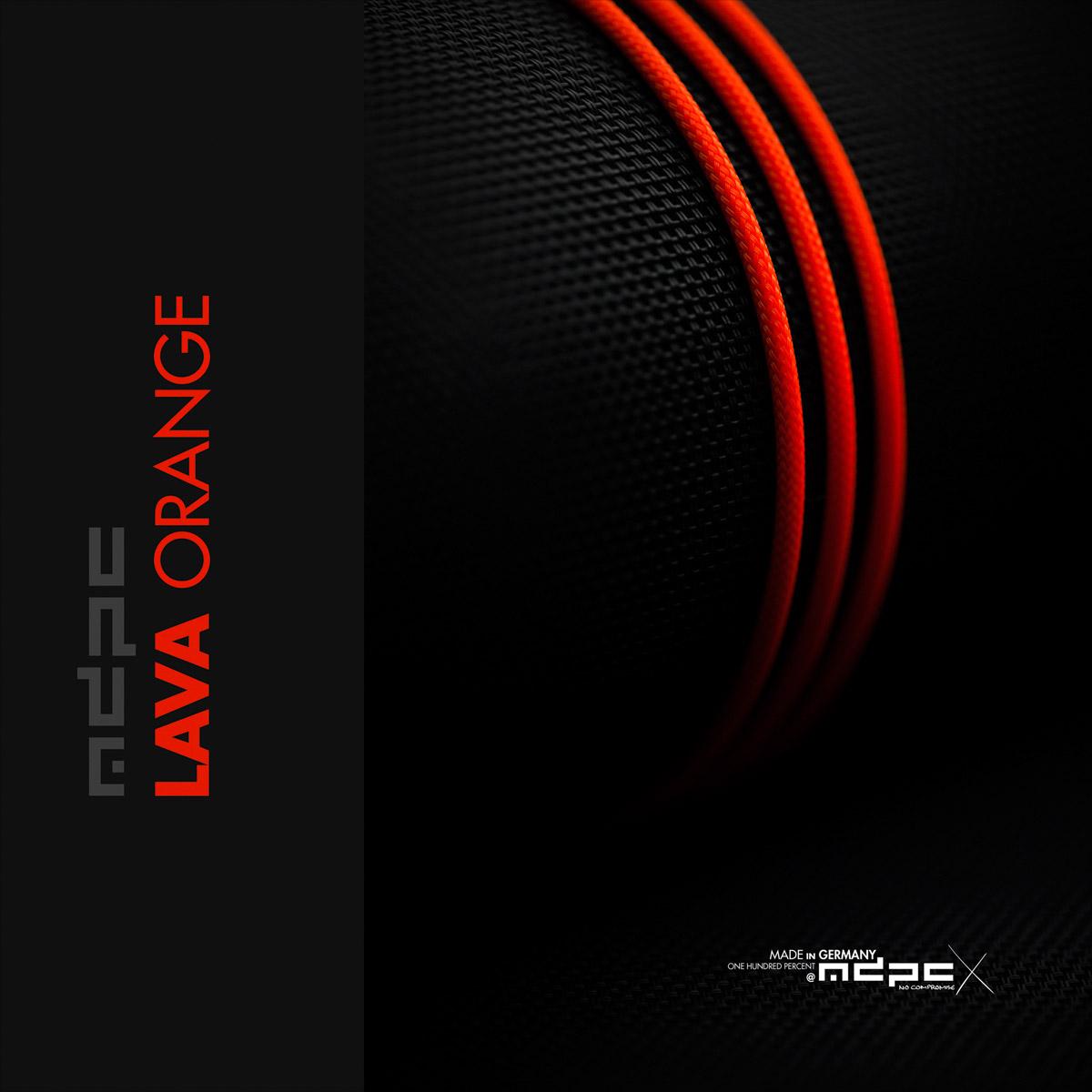 Lava Orange Cable Sleeve Xtc Mdpc X