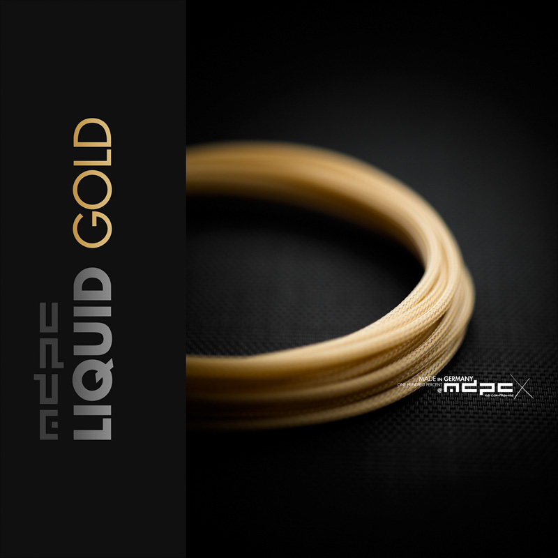 Liquid-Gold MDPC-X cable sleeving, the best in custom cables design.