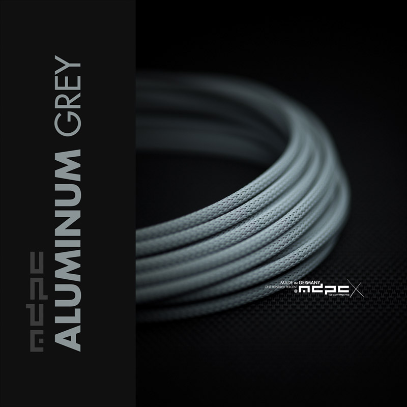 The new Aluminum-Grey cable sleeving!