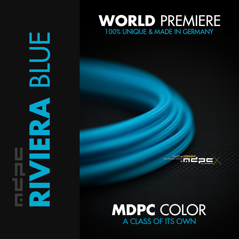 Riviera-Blue cable sleeving by MDPC-X