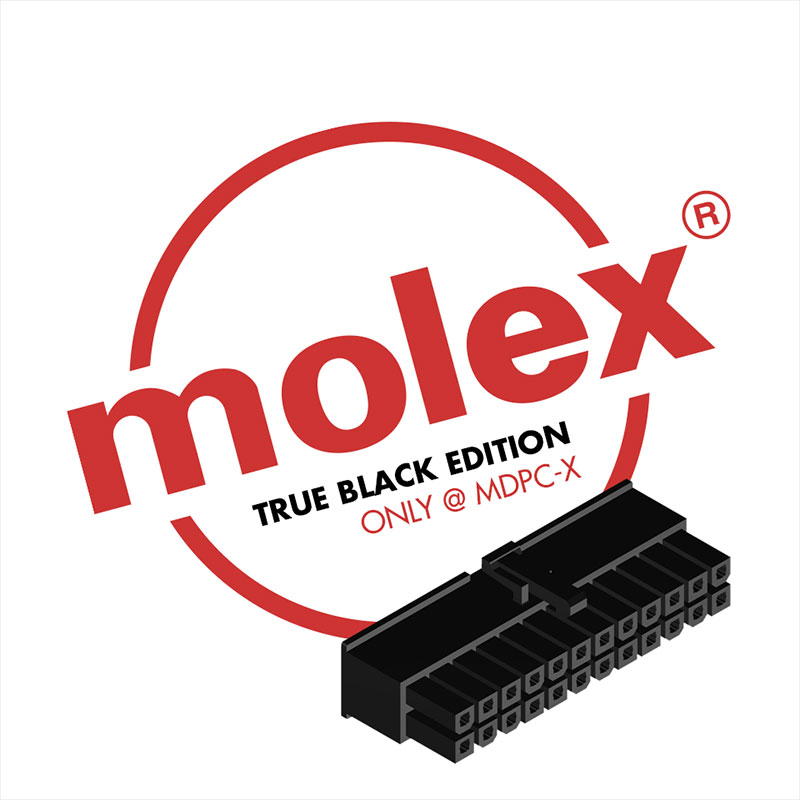 MOLEX connectors for ATX and PCI-Express - True black edition, only @ MDPC-X