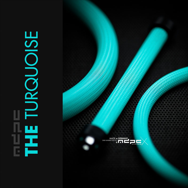 Turquoire cable sleeves
