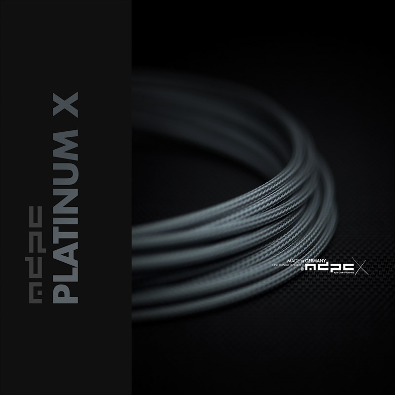 Platinum-X cable sleeve: The metallic look!